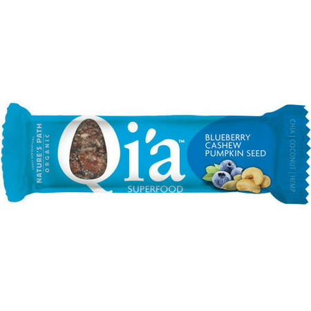 Qi'a Blueberry Cashew Pumpkin Seed Superfood Bar, 1.34 oz, (Pack of 6)