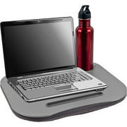 TG Cushioned Desk with Pen and Cup Holder, Gray