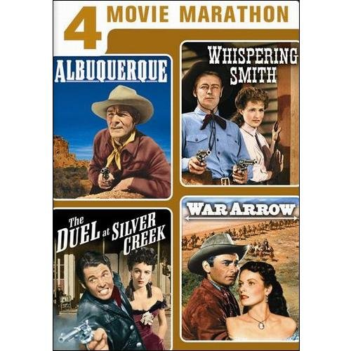 4 Movie Marathon: Classic Western Collection - Albuquerque / Whispering Smith / The Duel At Silver Creek / War Arrow (Full Frame)