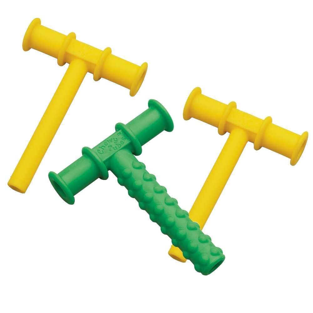 Chewy Tubes Teether, 3 Pack - Yellow/Green/Yellow
