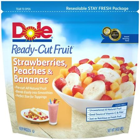 Dole Ready-Cut Fruit Strawberries, Peaches & Bananas Frozen Fruit, 14 oz