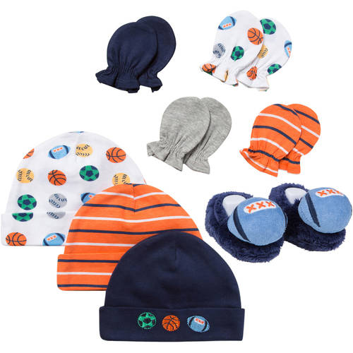 Gerber Newborn Baby Boy 8 Pc Accessory Set