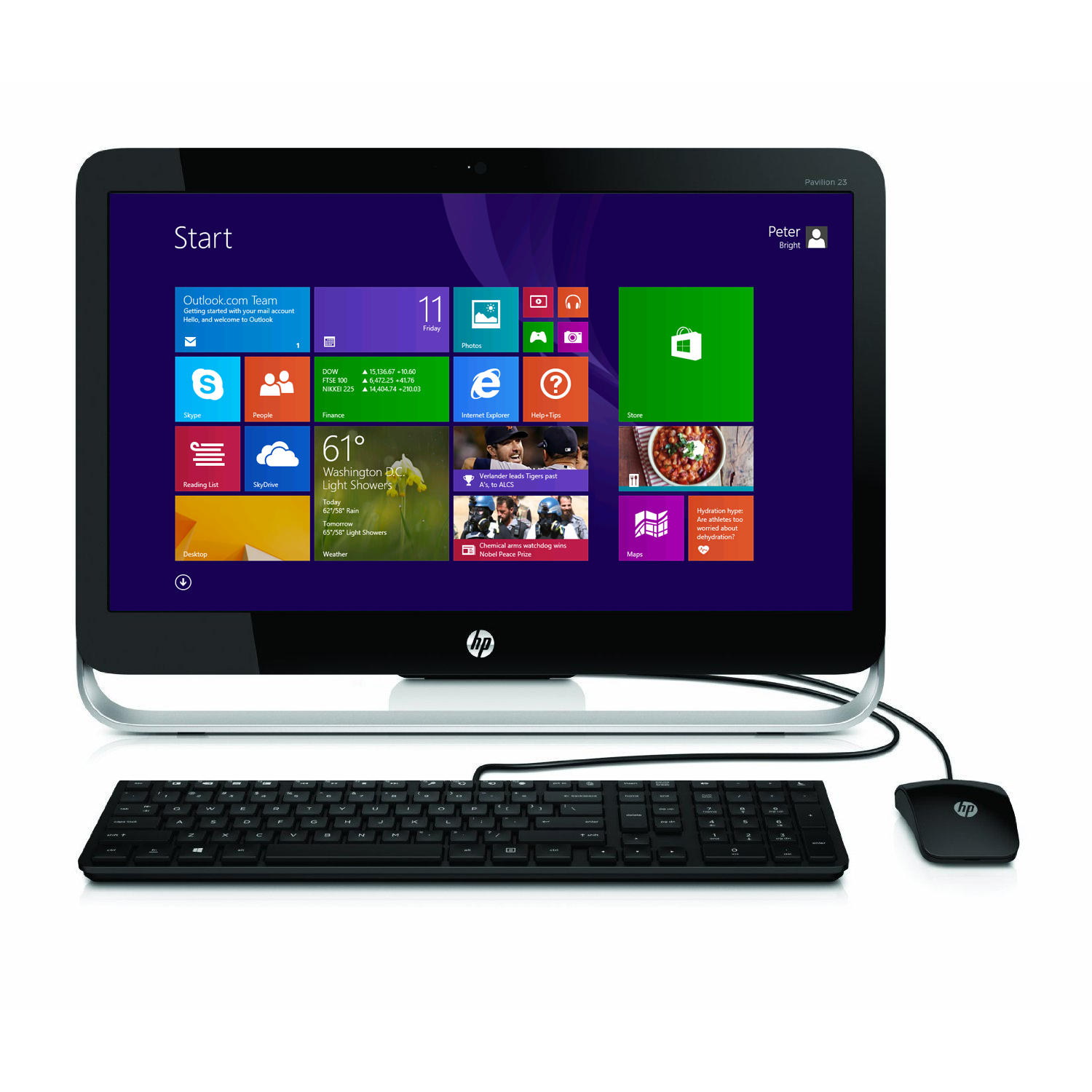 "Refurbished HP Pavilion 23-G013W 23"" Pentium G3220T Dual Core 2.6GHz 4GB 1TB All-in-One PC"