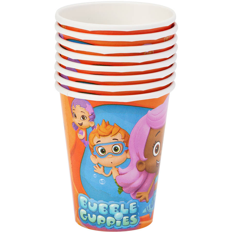 Bubble Guppies 9 oz. Paper Party Cups, 8 Count, Party Supplies