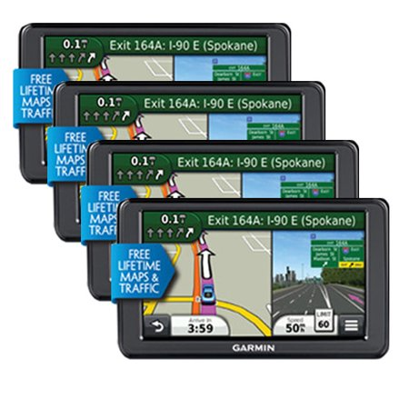 Refurbished Garmin Nuvi 2555LMT (4-Pack) 5; GPS with Lifetime Maps & Traffic Updates