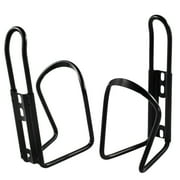Mountain Bicycle Bike MTB Alloy Water Bottle Cage Bracket Holder Black 2 Pcs