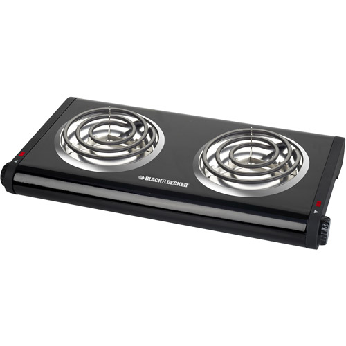 Black & Decker Double Burner, Black