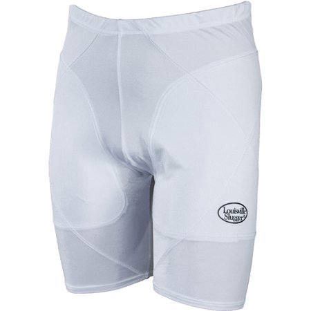 Louisville Slugger Women's Slugger Low-Rise Shield Sliding Shorts, White