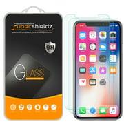 [2-Pack] Supershieldz Apple iPhone X Tempered Glass Screen Protector, Anti-Scratch, Anti-Fingerprint, Bubble Free