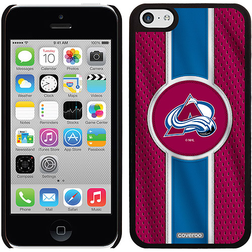 Colorado Avalanche Jersey Stripe Design on iPhone 5c Thinshield Snap-On Case by Coveroo