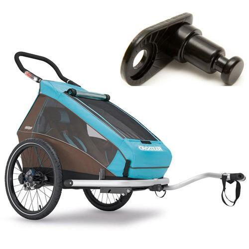 Croozer- 121990116KT- Kid Plus For 1 Kid For 1  Bicycle Trailer-Includes Extra H