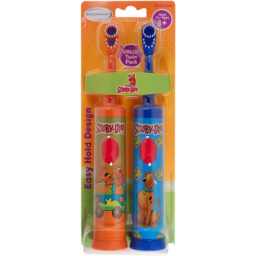 Brushpoint Scooby-Doo! Battery-Powered Toothbrush, 2 count
