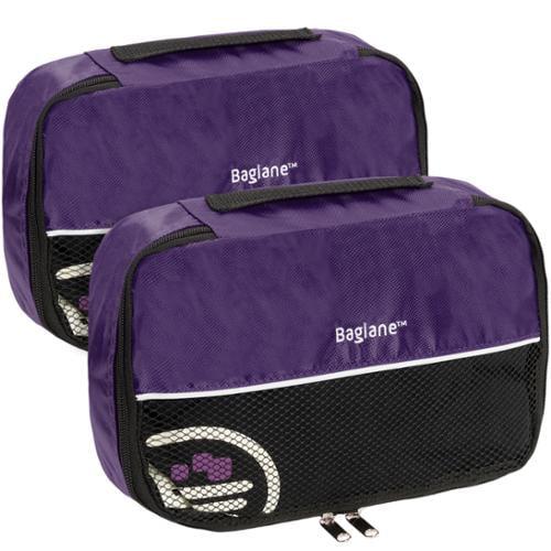 Baglane Purple TechLife Nylon Luggage Travel Packing Cube Bags -2pc Set (Small)