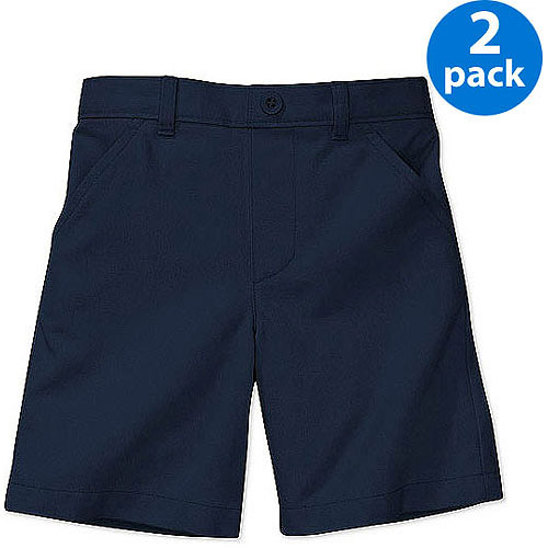 George Toddlers Boy or Girl Unisex School Uniform Shorts, 2 Pack Value Bundle