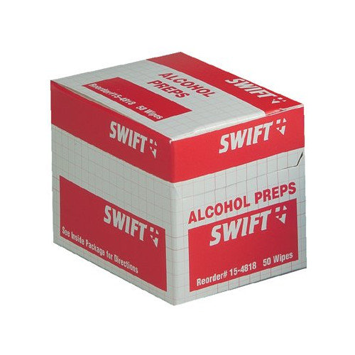 Swift First Aid Alcohol Wipes - alcohol wipes 50/bx (Set of 10)