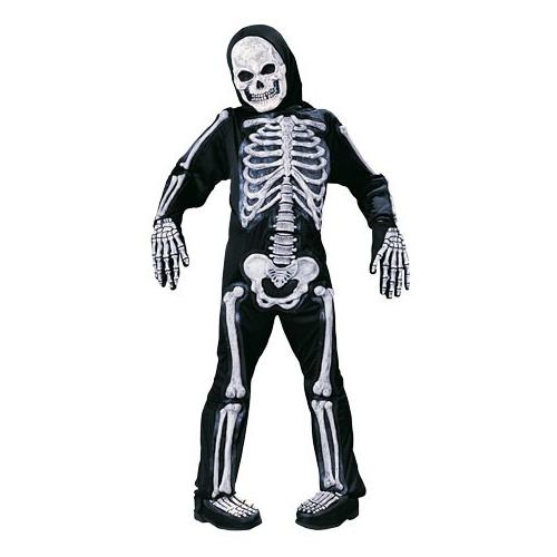 Unisex Skele-Bones Child's Halloween Costume Size Large (12-14) #8736