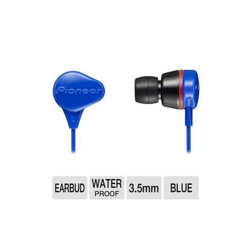 Pioneer SE-CL331-L Waterproof Earbud - 10Hz-20KHz, 16 ohm, Noise Isolating, Wate