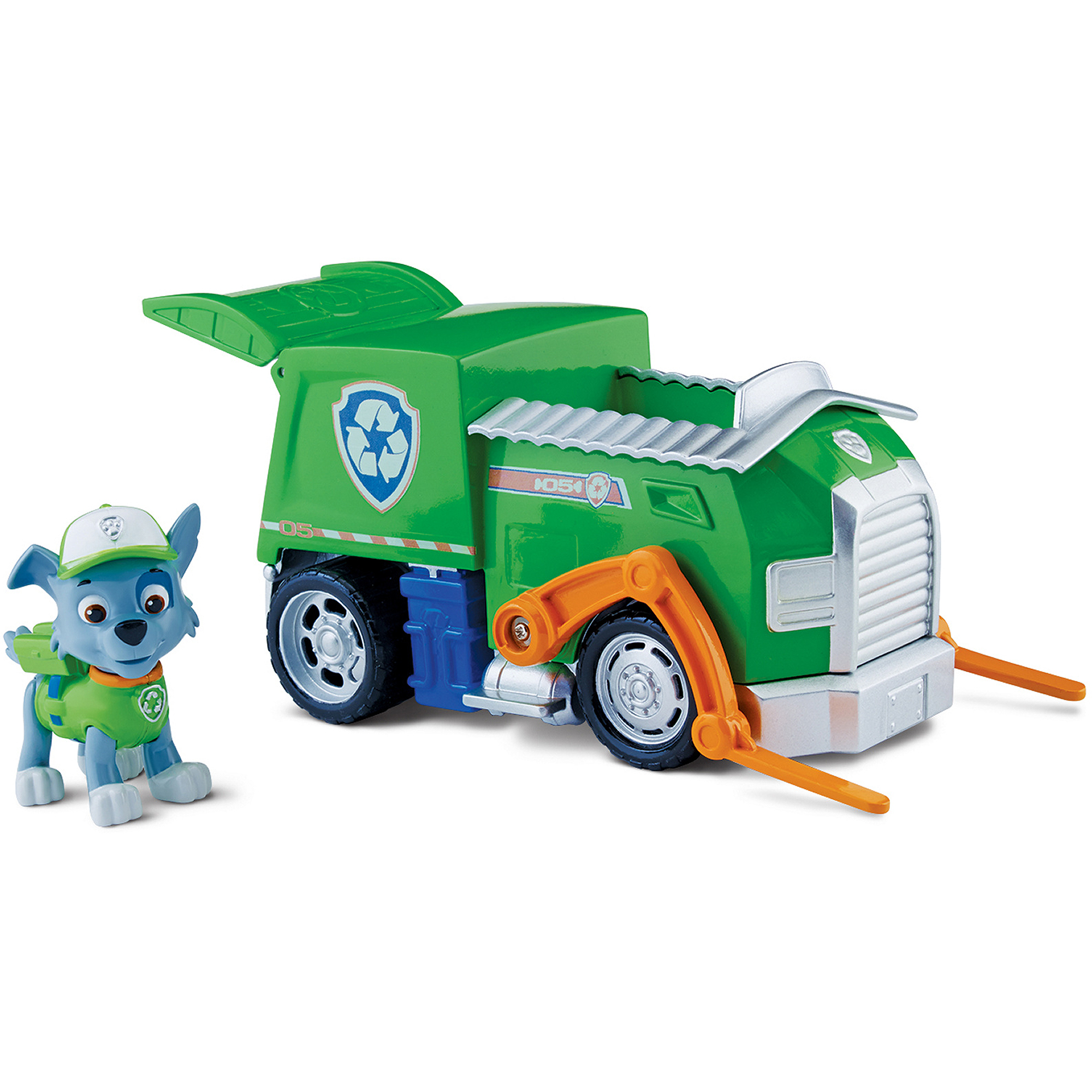 Nickelodeon Paw Patrol - Rocky's Recycling Truck, Vehicle and Figure