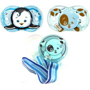 RazBaby - Keep-It-Clean Pacifier and Holder Bundle Gift Set, Boy