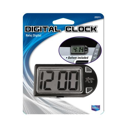 CUSTOM ACCESSORIES Digital Clock, Stand/Mount, Battery Incl.