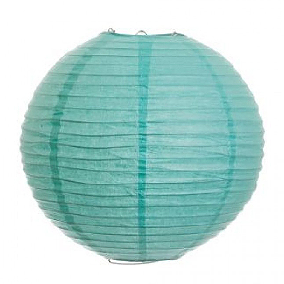"10"" Round Paper Lanterns - Diamond Blue"