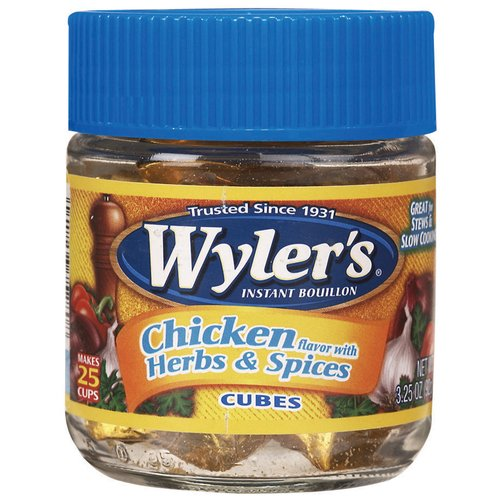 Wyler's Chicken With Herbs & Spices Bouillon Cubes, 3.25 oz