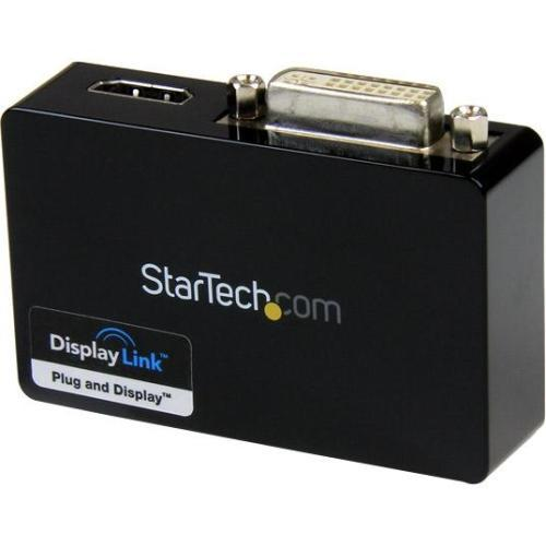 StarTech USB 3.0 to HDMI? and DVI Dual Monitor External Video Card Adapter - 1GB DDR2 SDRAM - USB 3.0