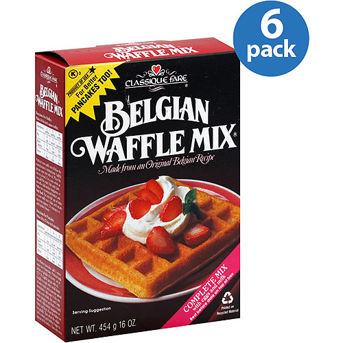 Classique Fare Belgian Waffle Mix, 16 oz, (Pack of 6)