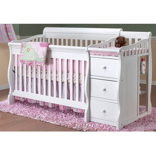 Sorelle Tuscany 4-in-1 Convertible Fixed-Side Crib and Changing Table Combo, Choose Your Finish