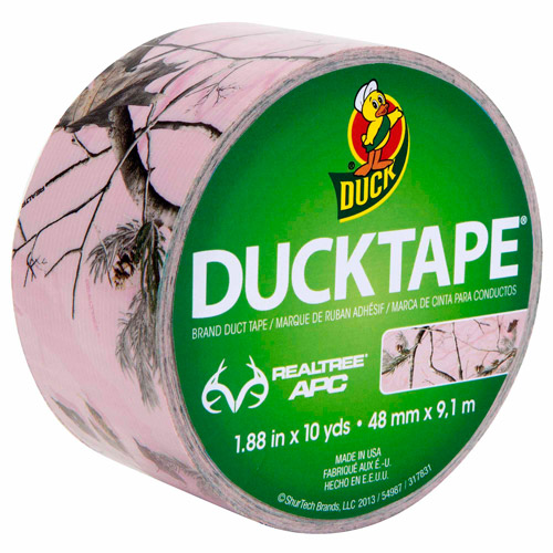 "Duck Brand 1.88"" x 10 yd Duct Tape, Realtree Pink Camo"