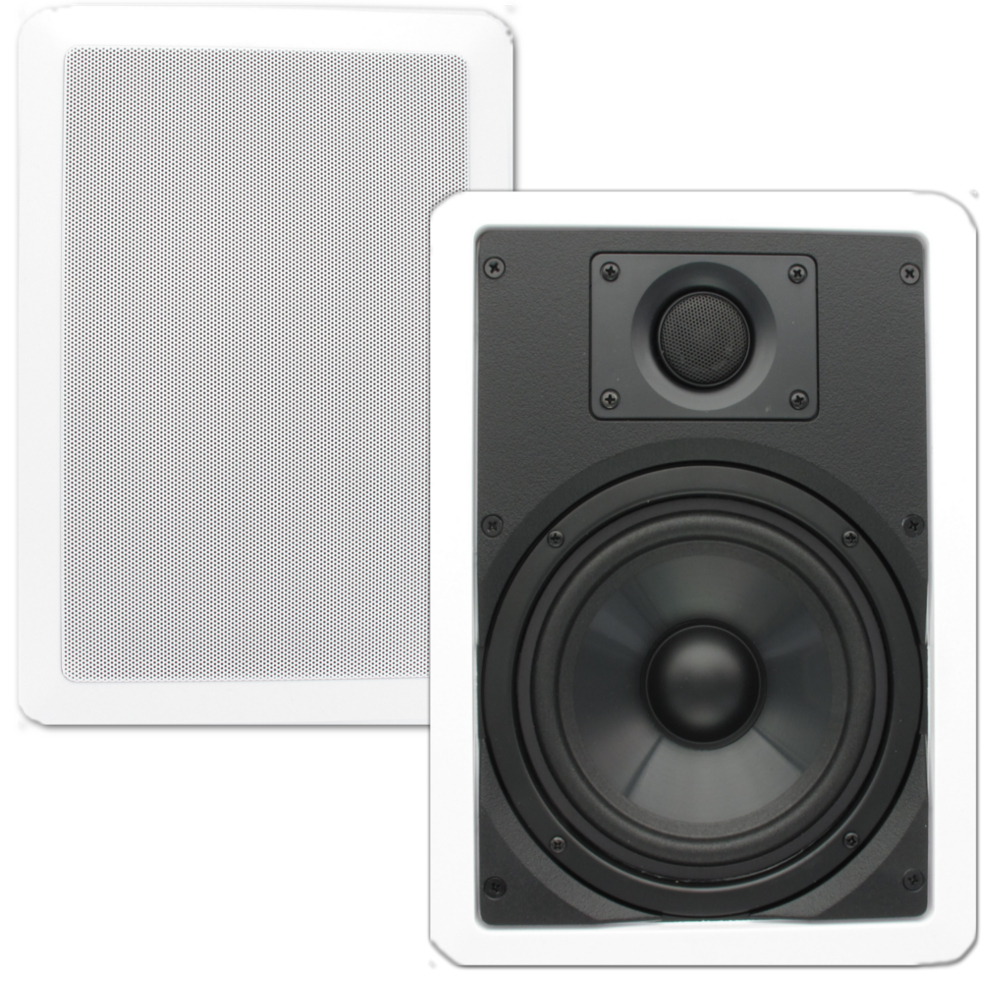 "Theater Solutions CS6W In Wall 6.5"" Speakers Surround Sound Home Theater Pair"