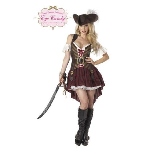 Sexy Womens Pirate Swashbuckler Costume - Size S