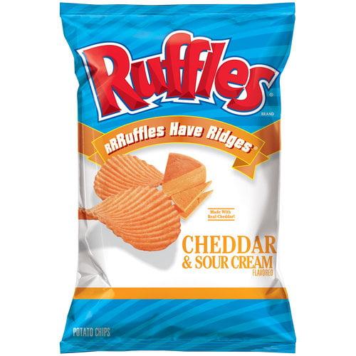 Ruffles Cheddar & Sour Cream Potato Chips, Family Size, 8.5 oz.