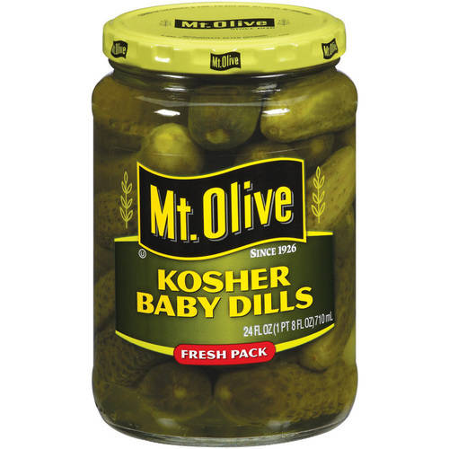 Mt. Olive Kosher Baby Dills Pickles, 24 fl oz