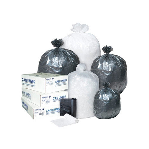 Inteplast Group 60 Gallon Low-Density Can Liner, 0.58 Mil in Black