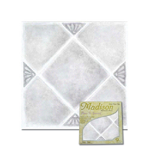 Home Dynamix 12'' x 12'' Vinyl Tiles in Madison Stone