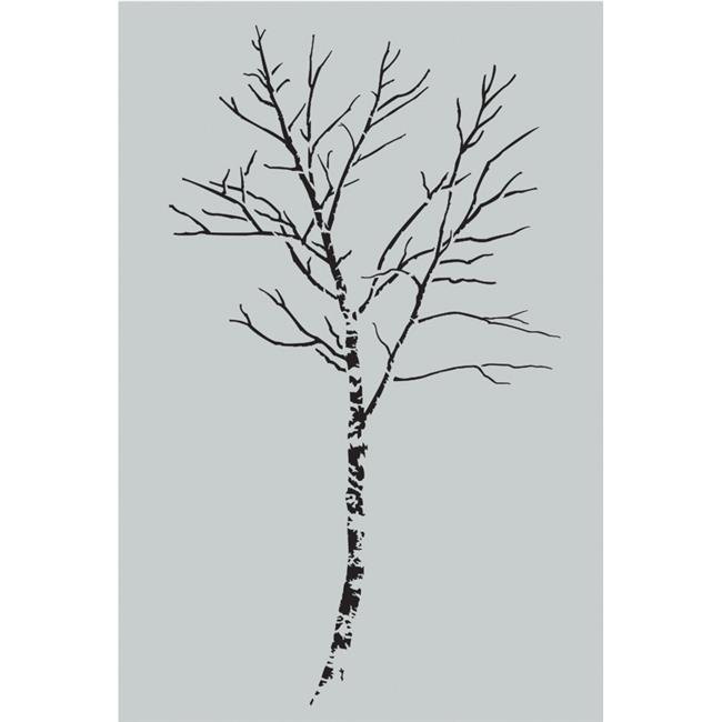 S1-BIR35 Stencil1 2 ft.  Wall Stencil, Birch Tree