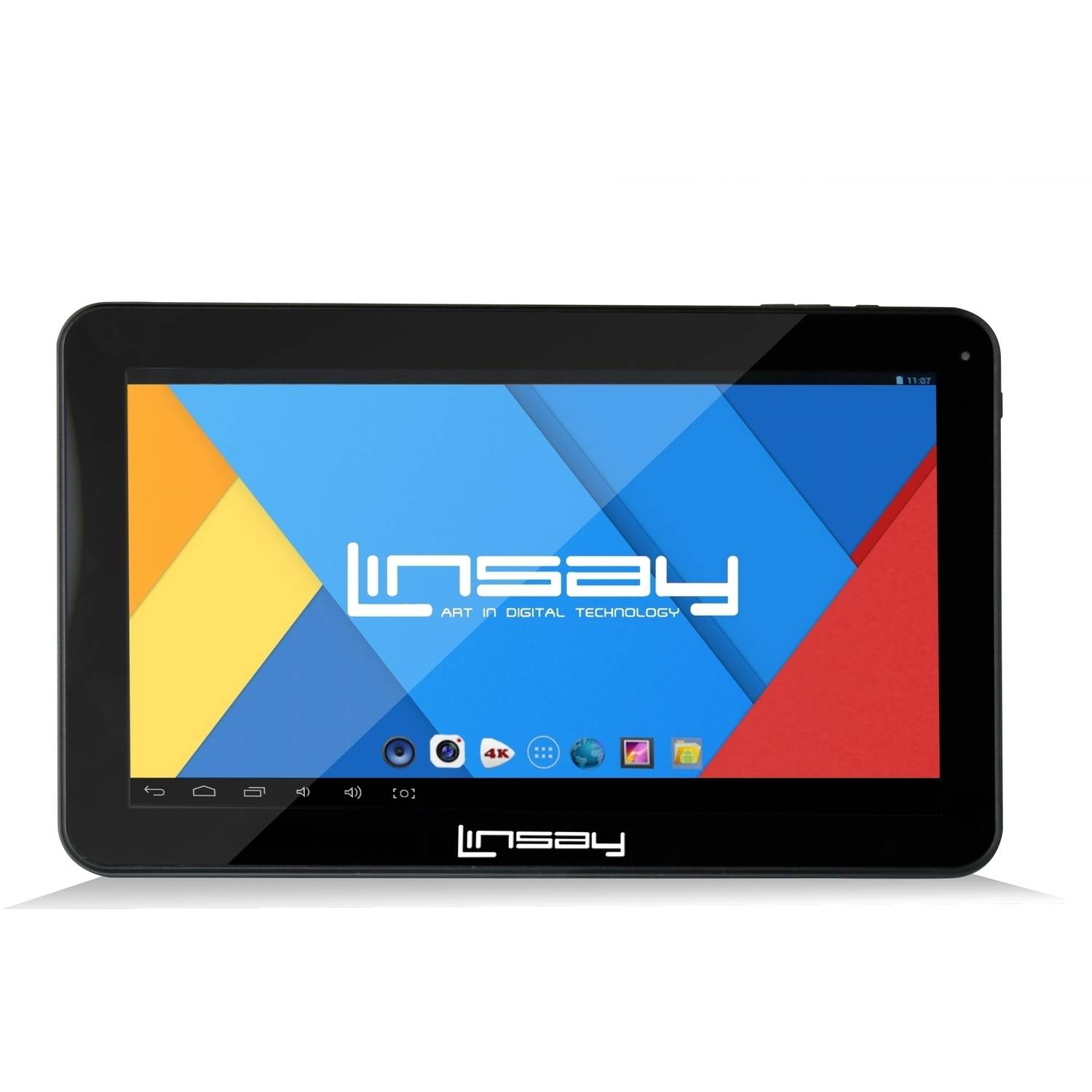 "Linsay F10XHD with WiFi 10.1"" Touchscreen Tablet PC Featuring Android 4.4 (KitKat) Operating System"