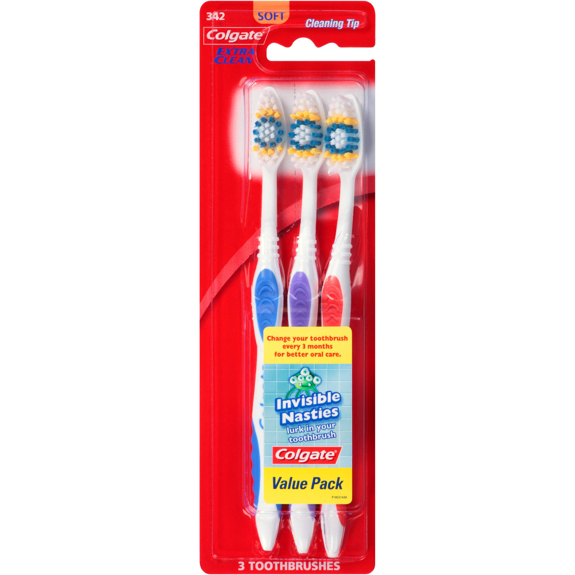 Colgate Extra Clean Soft Toothbrushes, 3 count