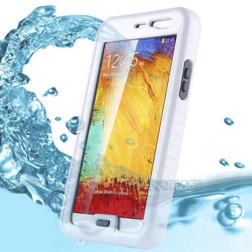 Note 3 Case, Galaxy Note 3 Waterproof Case - ULAK Dustproof Shockproof Dirtproof Snowproof Hard Armor Full Protective Cover Case Case for Samsung Galaxy Note 3 Note iii N9000 (White)
