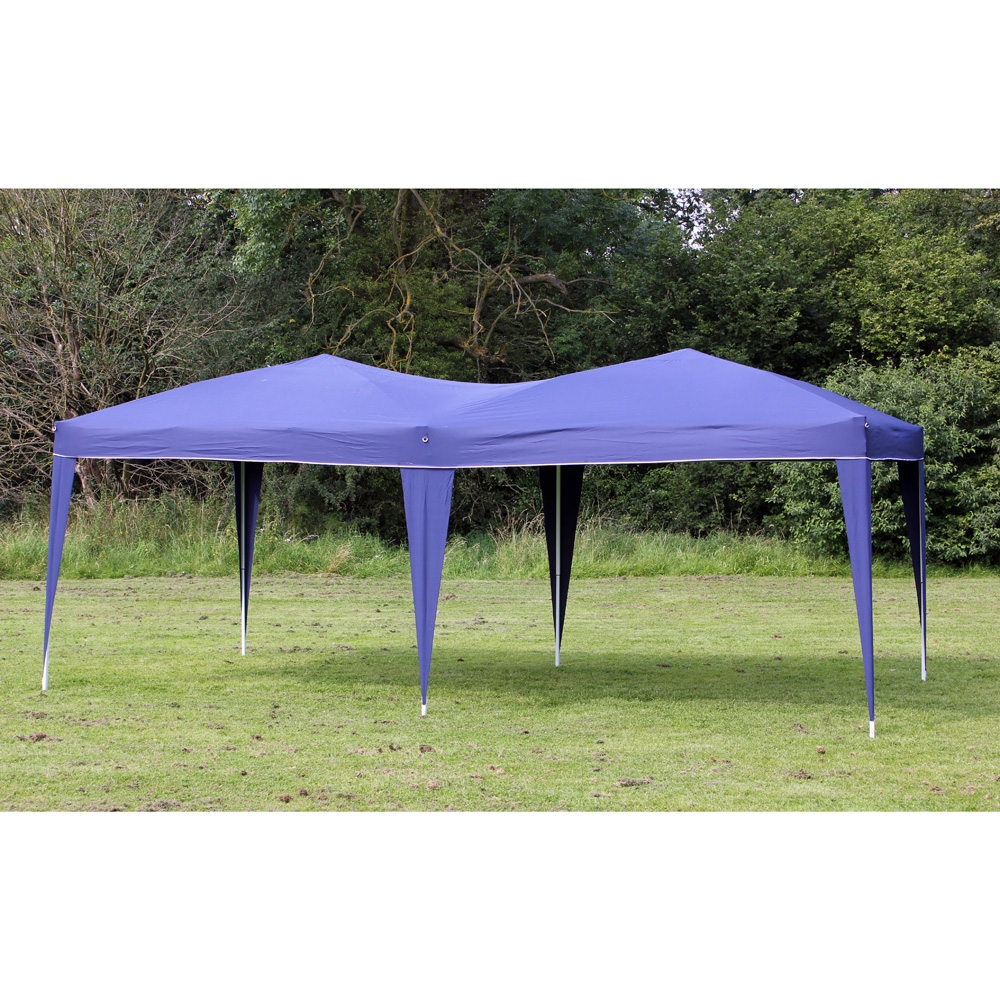 New 10' x 20' Palm Springs BLUE Pop UP EZ Set Up Canopy Gazebo Party Tent