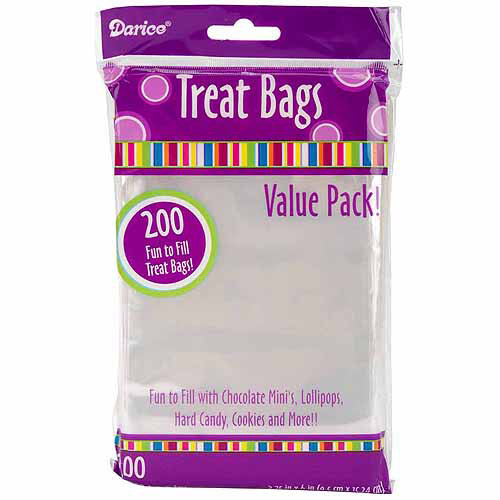 "Treat Bags, 3.75"" x 6"", 200-Pack, Clear"