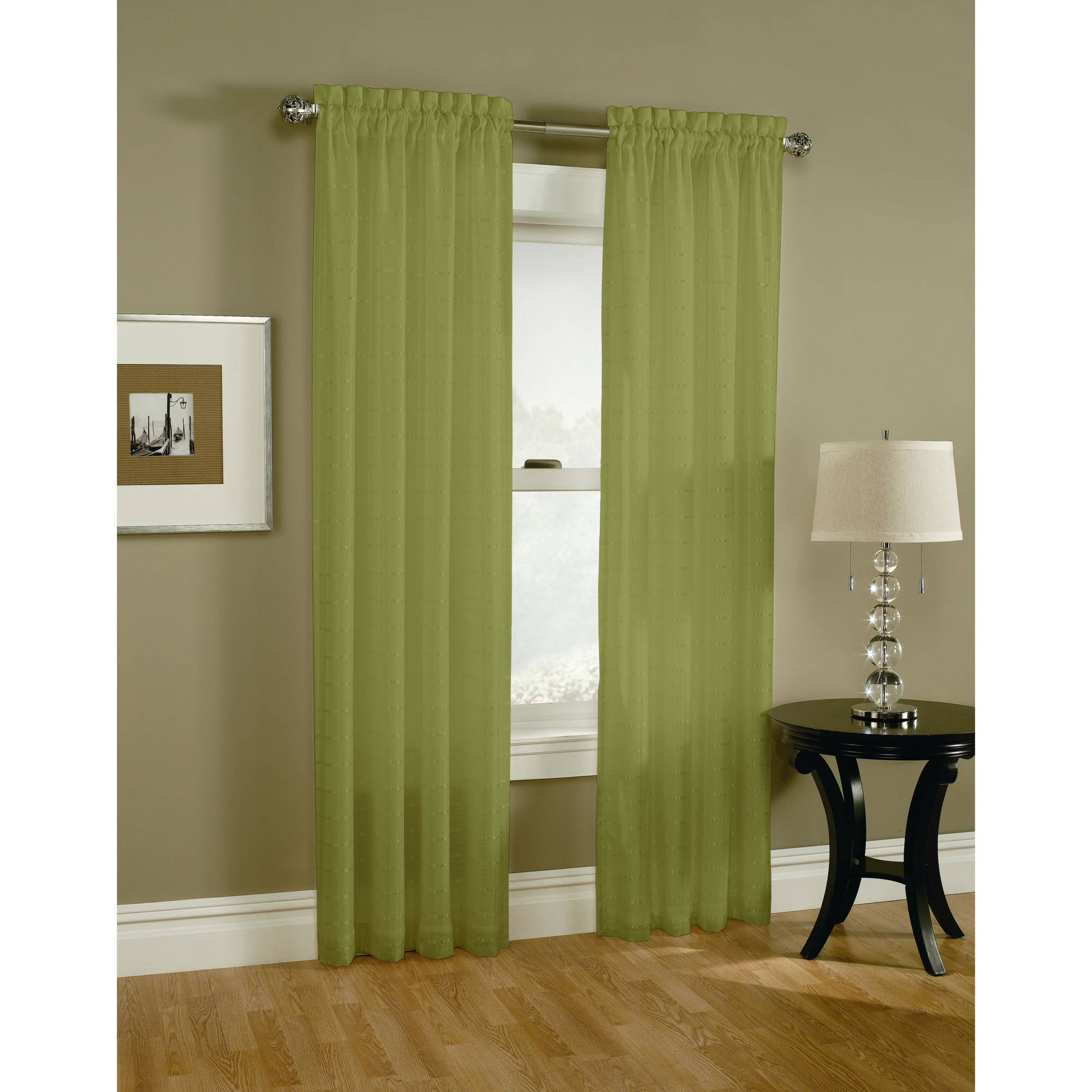 Renee Lined Sheer Voile Curtain Panel