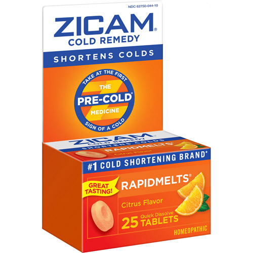 Zicam Rapidmelts With Vitamin C Citrus Cold Remedy 25 Ct