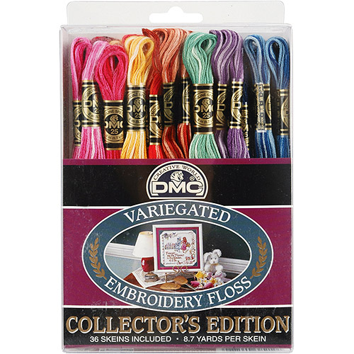 DMC 18-Color Embroidery Floss in 8.7-Yard Skeins, 36-Pack