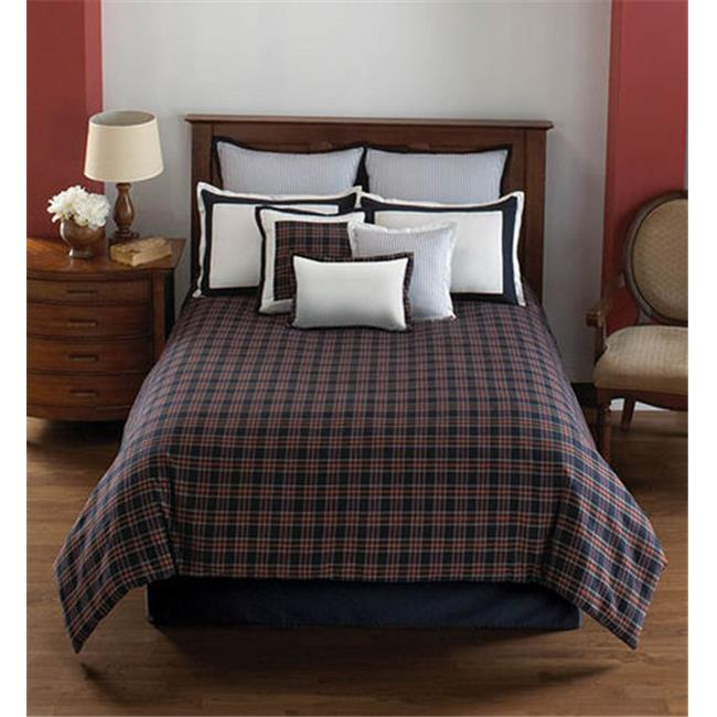 Hallmart 43180 Dover Plaid - 4 Piece Full Comforter Set