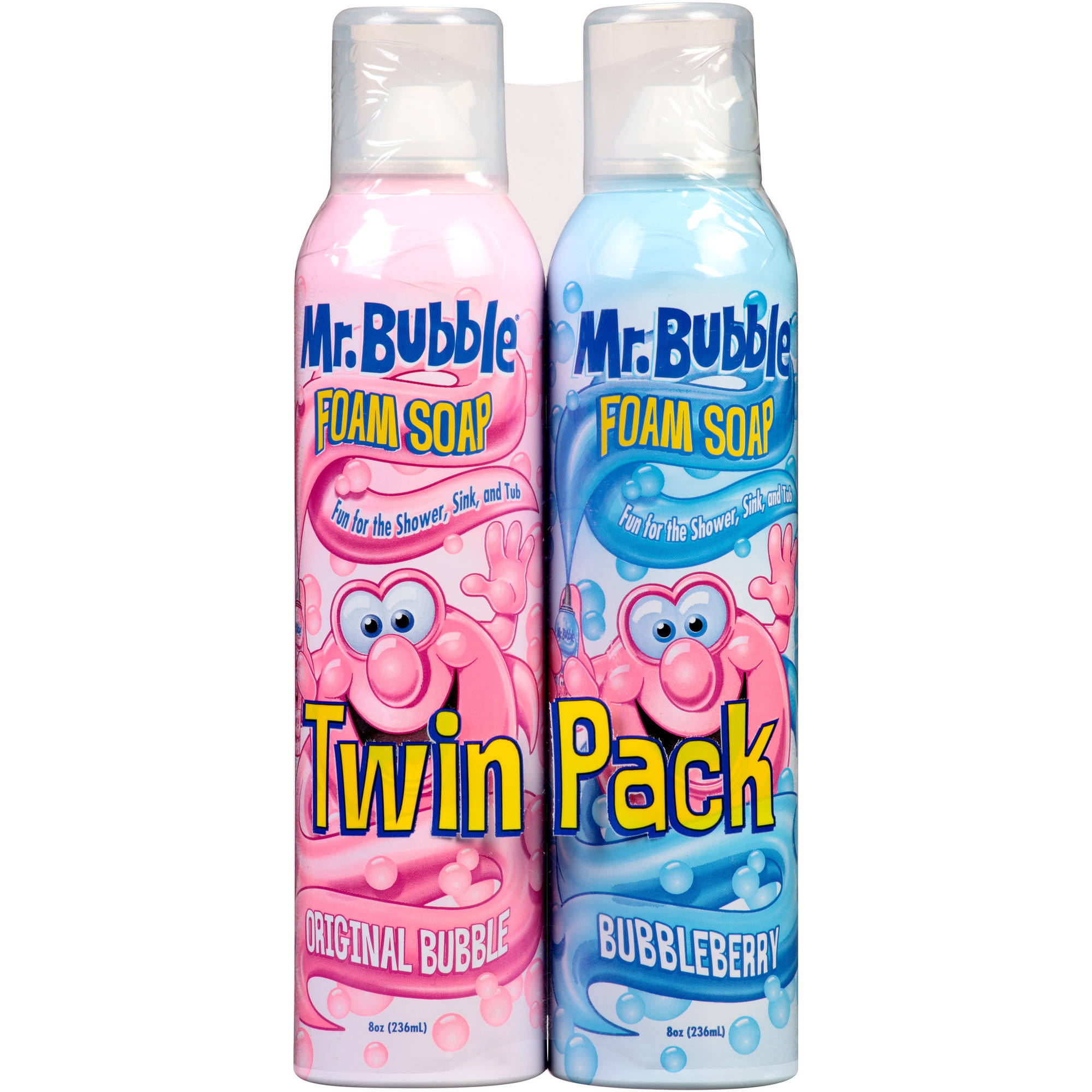 Mr. Bubble Original Bubble and Bubbleberry Foam Soap, 8 oz, 2 count