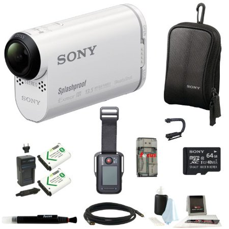 Sony HDR-AS100VR POV Action Cam with Live-View Remote and 64GB Accessory Kit