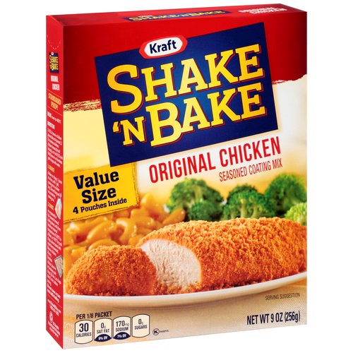 Kraft Shake 'n Bake Original Chicken Seasoned Coating Mix, 9 oz
