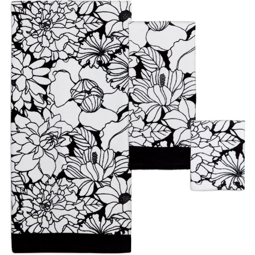 Creative Bath Black and White 3pc Towel Set